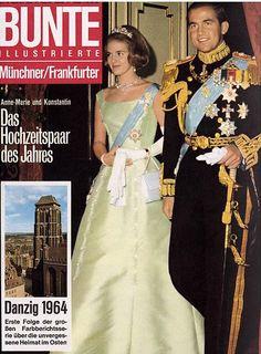 1964: König Konstantin von Griechenland und Anne-Marie von Dänemark