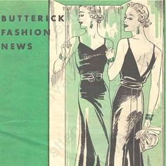 Butterick Fashion News, December 1936: 1930s winter patterns -- PDF e-booklet
