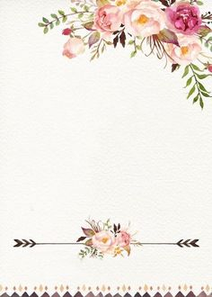 Floral backgrounds for invitations - House Goals Ideas