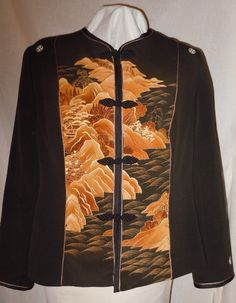 Japanese inspired black silk jacket from by firstfruitsapparel, $175.00