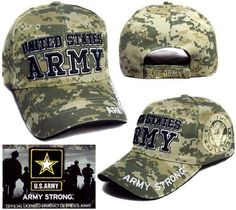 508abbd5b6b US Army Camo Licensed Embroidered Military Baseball Cap 1Pc 6 Pc Lot  (EC7507A6) in