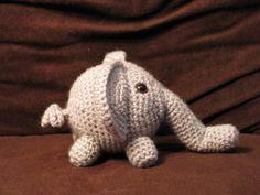 Trunk the Grey Crochet Elephant Plush. $15.00, via Etsy. I want it!