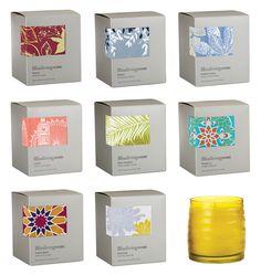 Blissliving Home: Destinations Collection - The Dieline - simple elegant dash of color