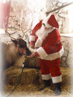 Santa visits a farm