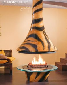 Open central fireplace EVA 992 TIGRE Fireplaces and heaters Collection by JC Bordelet Industries | design Paco Rabanne