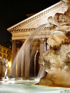 Beautiful shot of fountain in Rome...three coins in a fountain !