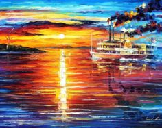 Far And Away Palette Knife Nautical Sailboat by AfremovArtStudio