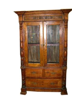 Mogulinterior Architectural elements belonged to old indian castles and mansion used for re-modeling spanish home,mediterranean homes Eclectic Furniture, Indian Furniture, Antique Furniture, Bedroom Furniture, Antique Cabinets, Wood Cabinets, Reclaimed Wood Furniture, Teak Wood, Jaipur