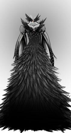 Katniss' Capitol wedding dress turned into the Mockingjay