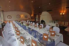 Festtafel im Kaminzimmer im Seehaus am Riessersee für 30 Personen