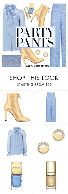 """""""Fancy Pants"""" by rasa-j ❤ liked on Polyvore featuring Jimmy Choo, Temperley London, Bloomingdale's, Michael Kors, Dolce&Gabbana, contestentry, womensFashion and polyPresents"""