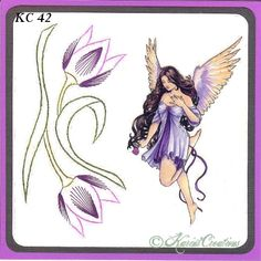 KarinsCreations Paper Embroidery, Embroidery Patterns, Stitching, Card Making, How To Make, Cards, Flowers, Projects, Embroidery