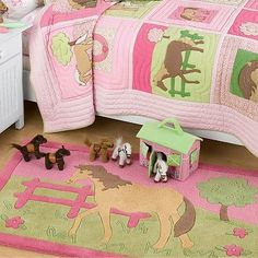 Pony Pasture Area Rug - Kids Decorating Ideas