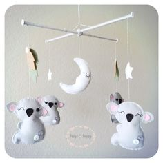 Baby Mobile Koala Baby Mobile Jungle Baby by PaigeAndPoppy