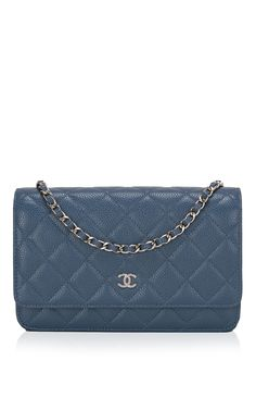 ac8d59a7e172 Chanel Blue Quilted Caviar Wallet On Chain by Madison Avenue Couture for  Preorder on Moda Operandi