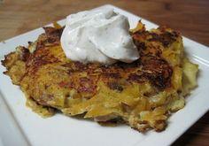 dukan butternut squash and ground turkey pancakes