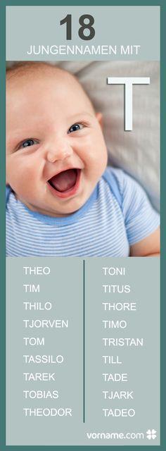 Du bist auf der Suche nach einem Jungennanmen, der mit einem T beginnt? Hier findest Du tolle Vorschläge - vielleicht ist der richtige Vorname für Deinen Sohn dabei!