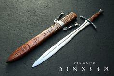 Vidgand, hand forged sword by David DelaGardelle.