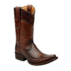 Cuadra Herren Western- Cowboystiefel (Krokodilleder) - Original handgefertigte Ledergürtel aus Mexiko!