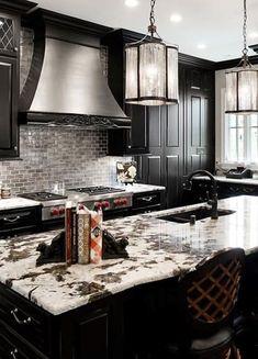 Black Color in Kitchen Design