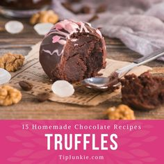 Chocolate truffles are all the rage right now and easier to make than you think! Here are 15 of the yummiest chocolate truffle recipes to make for dessert, dinner parties, get well gifts, as well as… Oreo Truffles Recipe, Homemade Truffles, Truffle Recipe, Chocolate Truffles, Cake Truffles, Chocolate Chocolate, Homemade Chocolate, Chocolate Recipes, Christmas Desserts