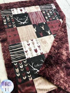 Little One Minky Baby Blanket – Lumberjack Blanket – Crib Blanket – Twin Blanket – strollers Toddler Blanket, Minky Baby Blanket, Baby Girl Blankets, Baby Nursery Bedding, Girl Nursery, Deer Nursery, Newborn Nursery, Nursery Room, Nursery Ideas