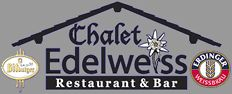Chalet Edelweiss is a great place to enjoy a good meal with an adult beverage.