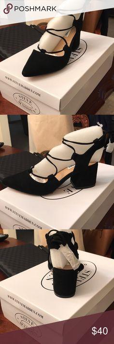 Steve Madden heels Very fancy and flashy Black suede heels Steve Madden Shoes Heels