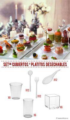 SET DEGUSTACION DE PLASTICO (56 piezas) #desechables #aperitivos #menaje #ComprarOnline