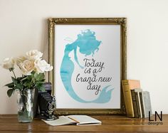 Instant 'Today is a brand new day' Mermaid  by mylovenotedesigns