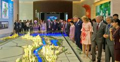 20150621 - WUHAN, CHINA: Queen Mathilde of Belgium and King Philippe - Filip of Belgium pictured during a visit at Wuhan Urban Planning Exhibition Hall on the second day of a royal visit to China, Sunday 21 June 2015, in China.