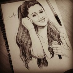 #arianagrande #drawing #pen #dessin #art