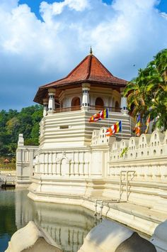 Temple of the Tooth - Kandy, Sri Lanka - The royal city of Kandy is on the UNESCO World Heritage list partly due to this historic Buddhist temple containing Buddha's tooth relic.