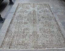 Turksih rugs,anatolian handwoven rugs,area rugs,gray overdyed rugs,vintage…