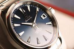 OMEGA SEAMASTER AQUA TERRA BLUE DIAL Coaxial Chronometer