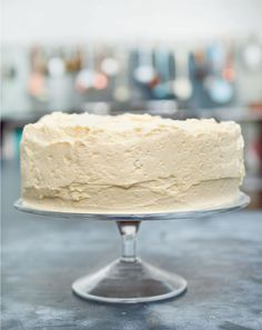 Vanilla Layer Cake with Ermine Icing - The Happy Foodie