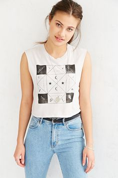 Truly Madly Deeply Fortune Teller Says Muscle Tee - Urban Outfitters