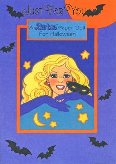 Halloween Paper Doll Cards - Barbie