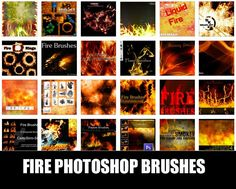 Fire and flames Photoshop brushes are useful for creating explosive backgrounds as well as for texturizing and photo manipulation. Especially with high-quality, high-resolution brushes, the things that you can do with them is endless. You can create fiery text effect, glowing embers, or use them for lighting effects.