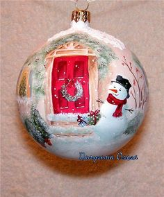 "New 2017 handmade. Fair Masters - handmade. Buy Christmas ball ""on the threshold of the New Year."" Handmade."
