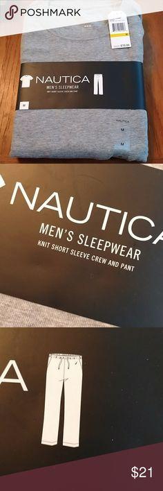 Nwt Mens nautica sleepwear set sz med Nwt Men's sleepwear set includes grey top and black pants. Sz med Nautica Other