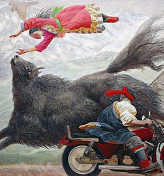 Wang Yi Guang is a Chinese artist who studied at the Central Academy of Fine Arts in Beijing. He has produced a series of romanticized visions of gambols in the fields of Tibet. Chinese Painting, Chinese Art, Chinese Contemporary Art, Contemporary Artists, Art Chinois, Tibetan Art, Beijing, West Art, Art Japonais