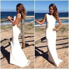 Wholesale Pageant Dresses for Girls - Buy Elegant Open Back Womens Gowns For Proms Red White Mermaid Long Evening Dress 2014 Vestidos De Fie...