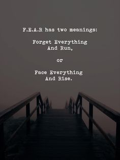 FEAR has two meanings..
