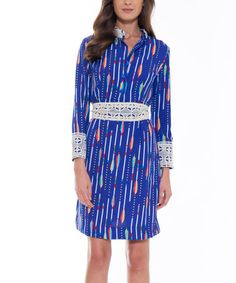 Loving this Cobalt Blue Shanon Shirtdress on #zulily! #zulilyfinds