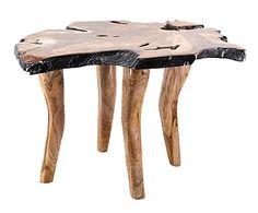 Mesa de centro en madera de teca Kilan - natural y negro