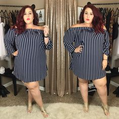 Plus Size Fashion for Women Curvy Girl Fashion, Look Fashion, Fashion Outfits, Plus Size Fashion For Women, Plus Size Women, Plus Fashion, Plus Size Dresses, Plus Size Outfits, Plus Size Fashionista