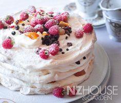 Spiced Pavlova Stackwith Marinated Fruits & Marsala Cream
