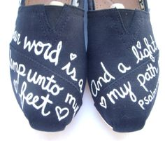 The Light Black and White Custom TOMS by FruitfulFeet on Etsy, $120.00