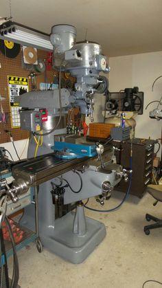 My Bridgeport milling machine Welding Workshop, Home Workshop, Milling Machine, Machine Tools, Metal Working Machines, Metal Mill, Bridgeport Mill, Turning Machine, Welding Shop
